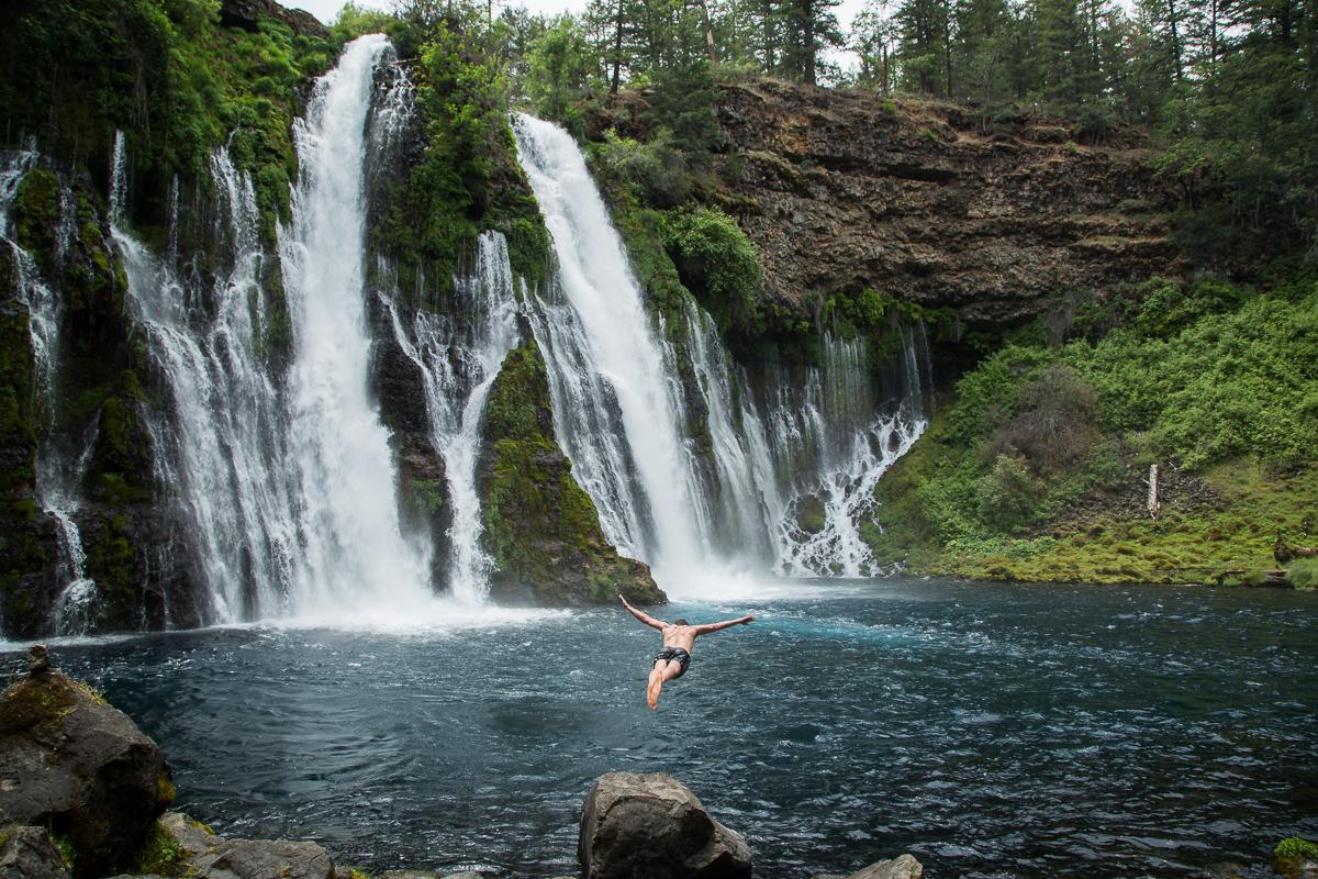 jump dive waterfall california thisworldexists ryan thompson