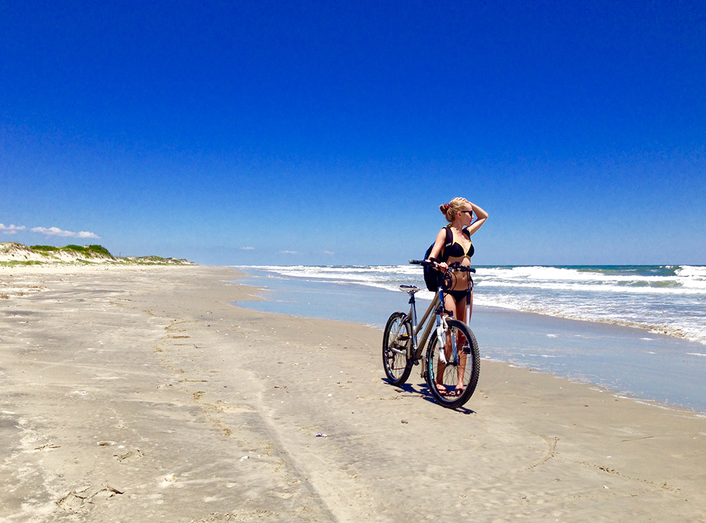 Julia Pelio beach bike thisworldexists
