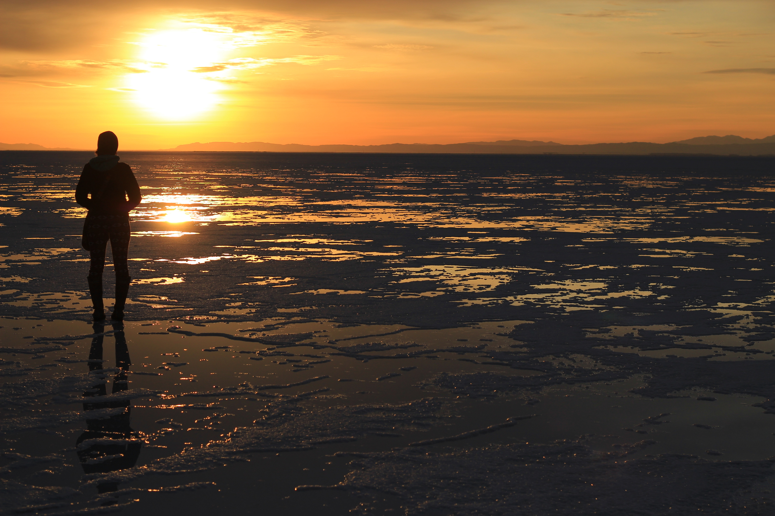sunset salt flat utah reflection thisworldexists this world exists michelle torres