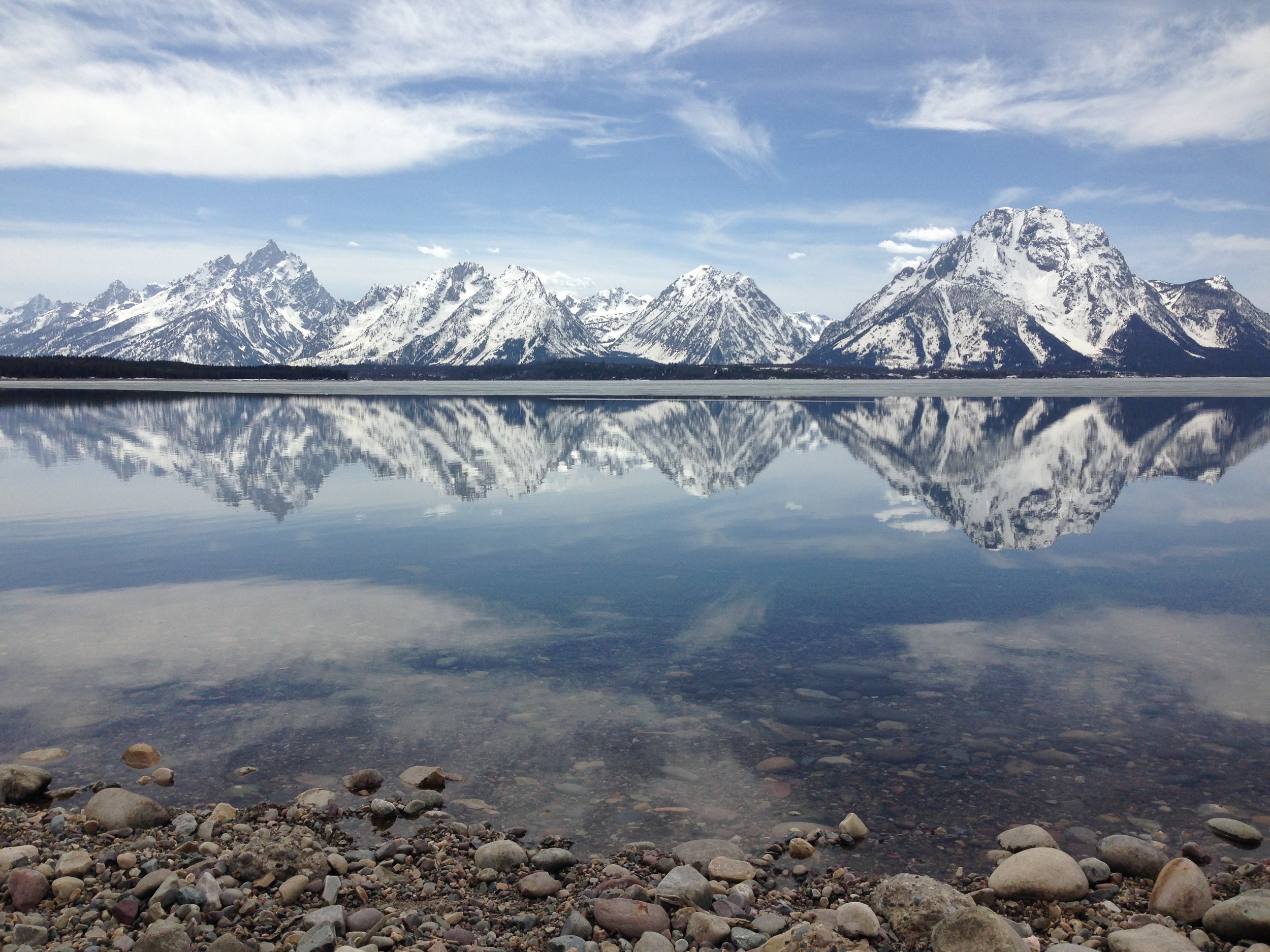 My favorite peak, Mount Moran, reflecting on Jackson Lake in Grand Teton