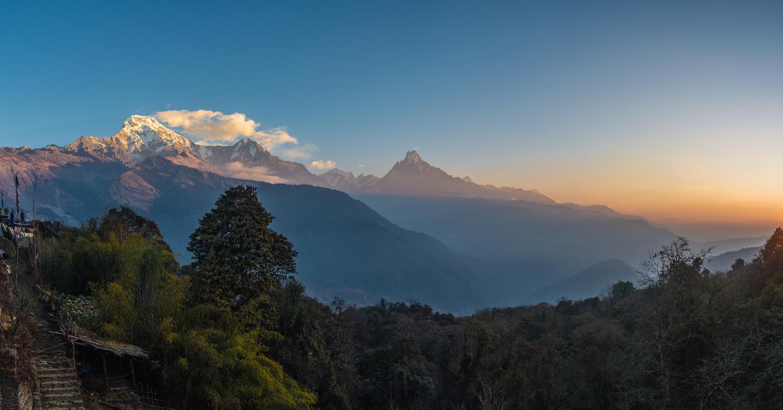 Annapurna Nepal hiking hike thisworldexists this world exists adventure travel fishtail sunrise tadapani ghorepani mountains himalaya