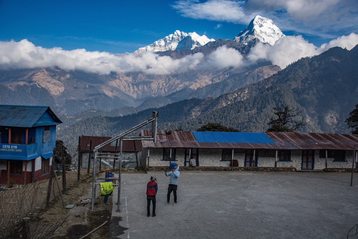 mountains basketball thisworldexists this world exists school bball nepal hike hiking adventure annapurna snow
