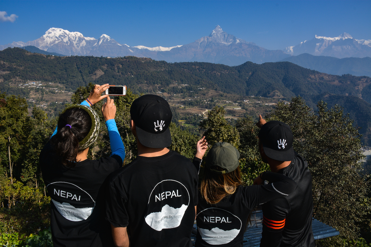 annapurna mountains thisworldexists this world exists hike hiking trek fishtail snow