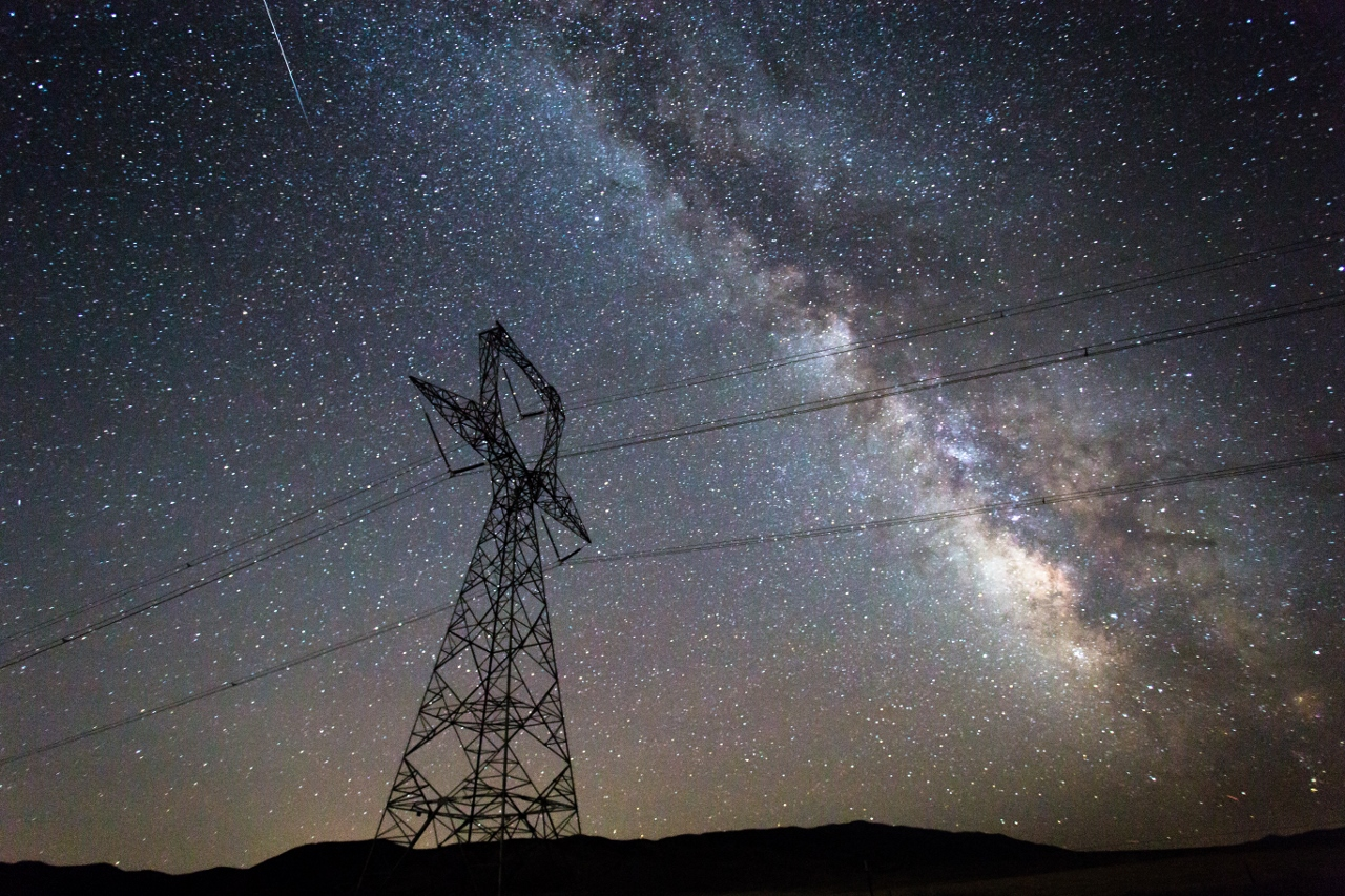 Power lines in the West Desert.  Photo: Dean Chytraus