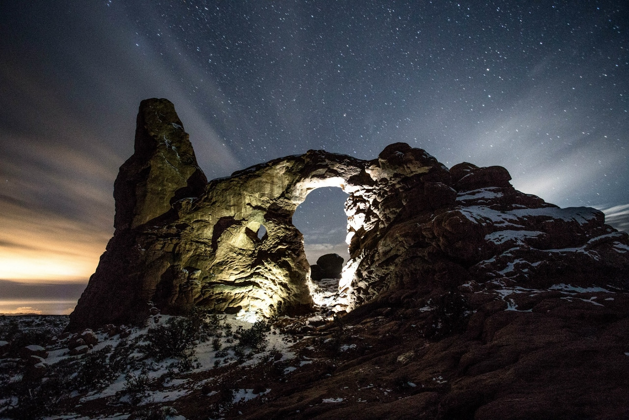 Turret Arch in Arches National Park.  Photo: Dean Chytraus
