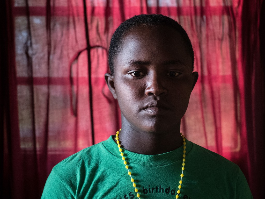 """Modestar: """"I am at the Samburu Girls Foundation for many problems. One is for early marriage. I could not go to school because my parents were very poor. This made me very sad. I could not say my A, B, C, Ds, but I knew I was a very bright girl. Today, they gave us small things called cameras. Everybody carries them. For the rest of my life, I will not forget this day."""" -Maria/Too Young To Wed/Samburu Girls Foundation"""