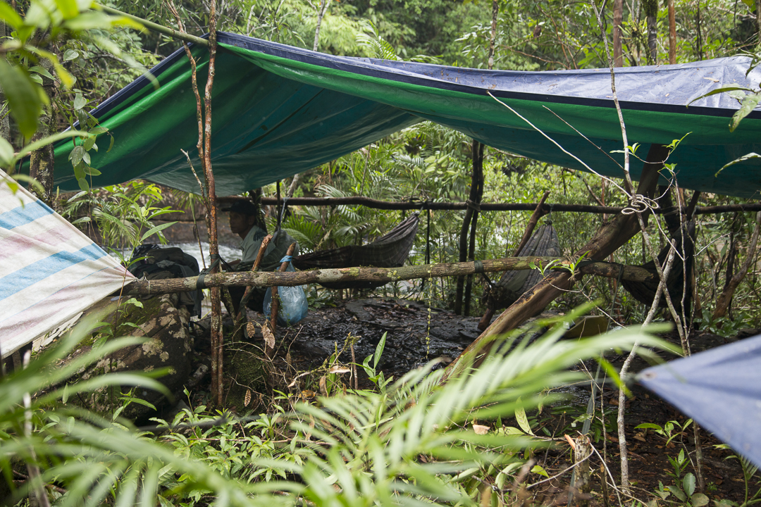 Home for the night! Jungle camping in the Cardamom Mountains