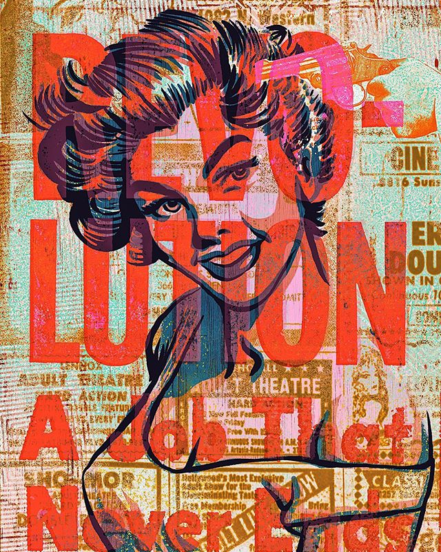 Fighting for our personal rights is a job that never ends. #revolution #keepfighting #illustration #neverends #art #type #newspaper #collage #mixedmedia #idealsforsale #color #colorpalette #vintage #retro #artistsoninstagram #typography #adult #personalfreedom #america #agencyrush @agencyrush #goodtype #designspiration #graphicdesign #design #riseup