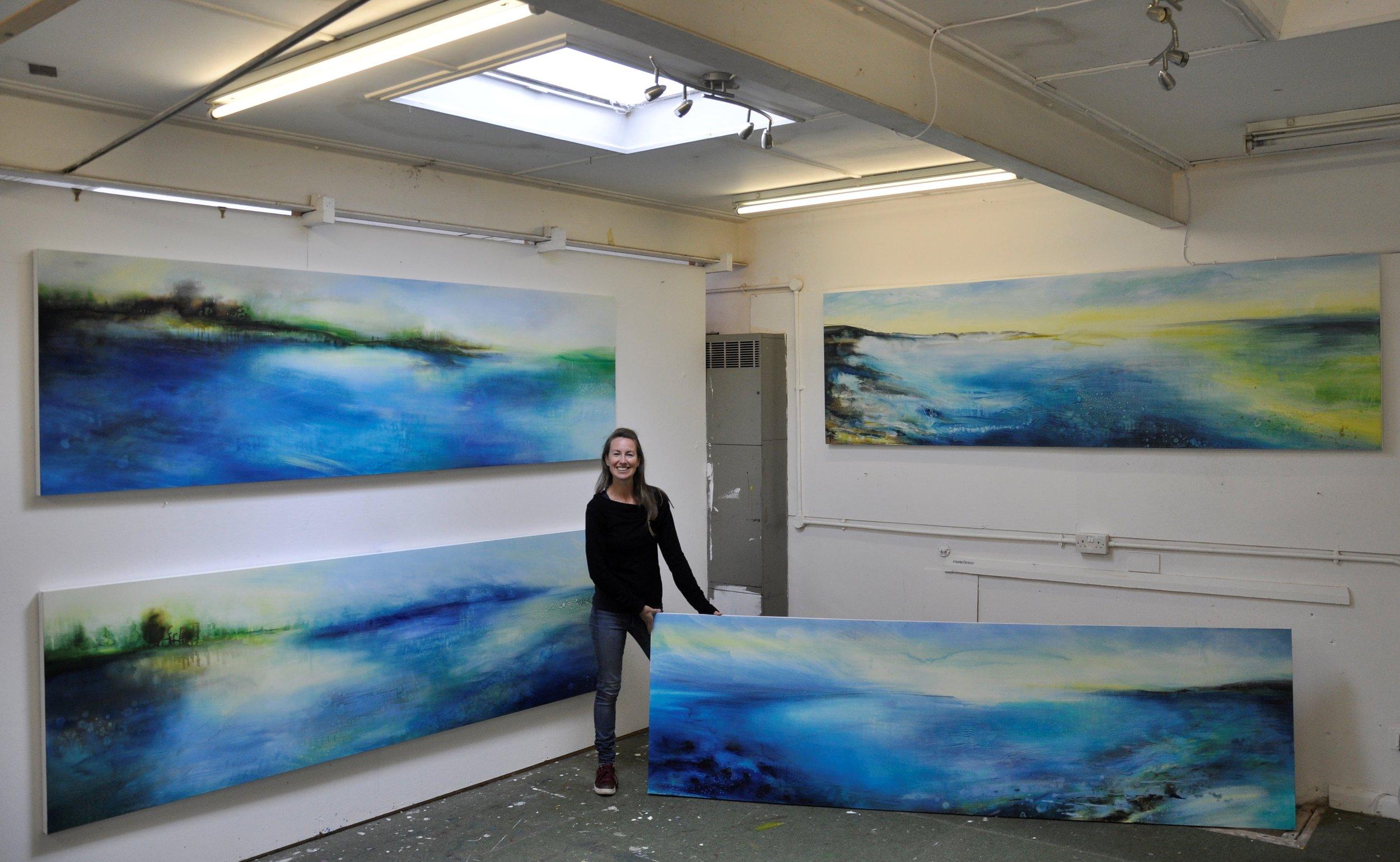 Amy Saga Four paintings 2019.jpg