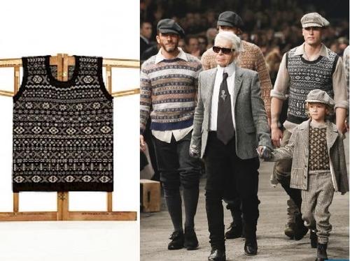 Matt Ventrillon's design (left) and Chanel Metiers d'Art (right)