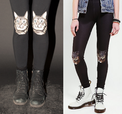 Wowch's cat leggings (left) & Urban Outfitters' version (right)