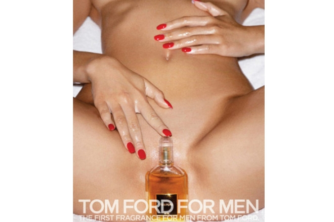 One of the Tom Ford ads highlighted in the Badger & Winters campaign