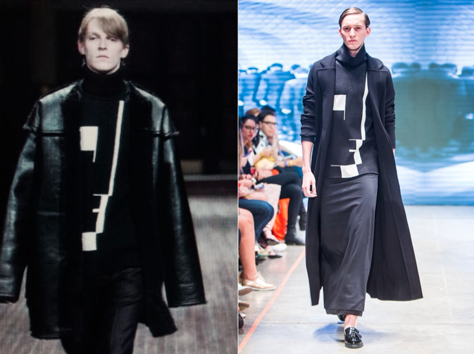 Raf Simons F/W 2003 (left) and Cihuah F/W 2015 (right)