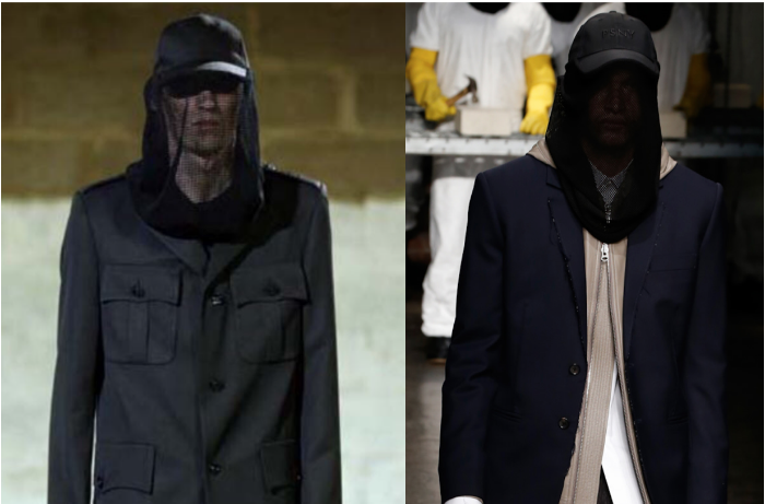 Raf Simons S/S 2003 (left) and Public School S/S 2016 (right)