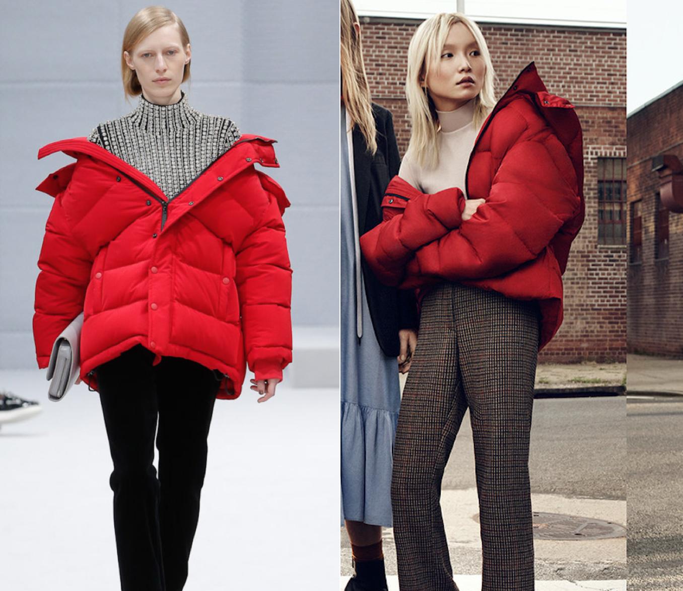 Balenciaga (left) & Zara (right)