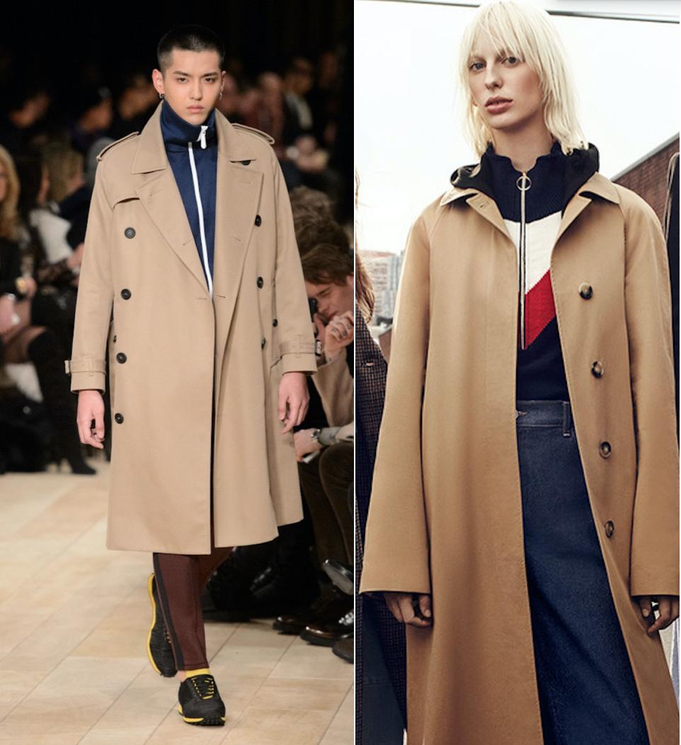 Burberry (left) & Zara (right)