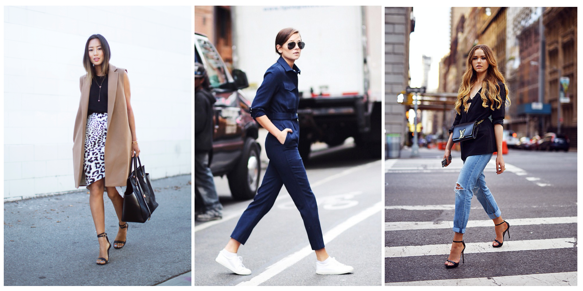 from left: Aimee Song, Danielle Bernstein, and Kristina Bazan
