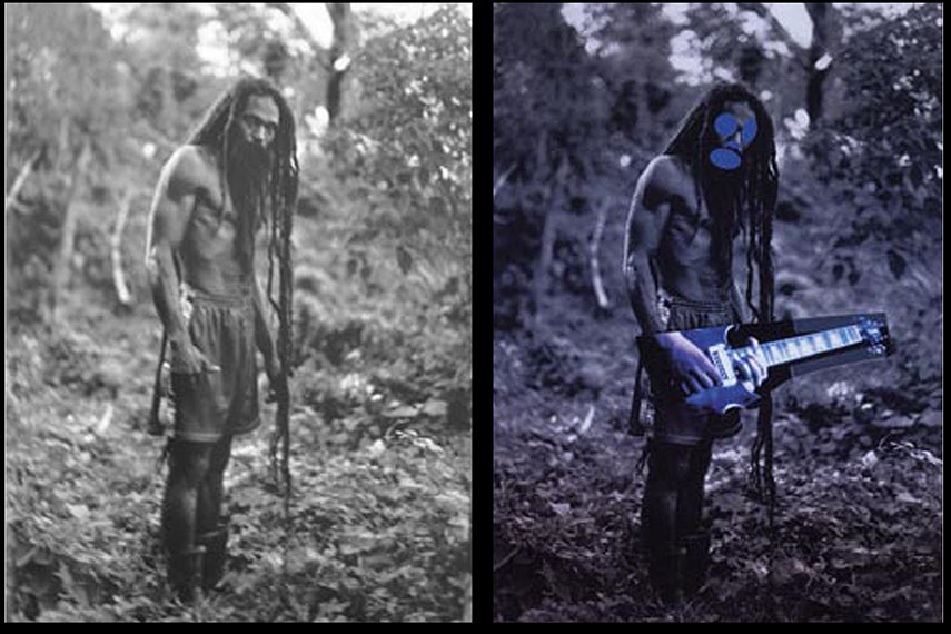 Cairo's photo (left) and Prince's work (right)