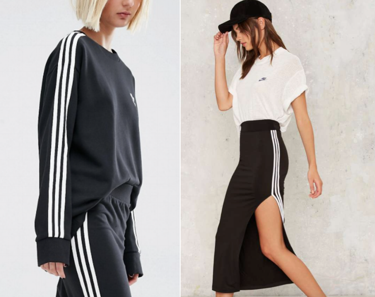 adidas (left) & Nasty Gal (right)