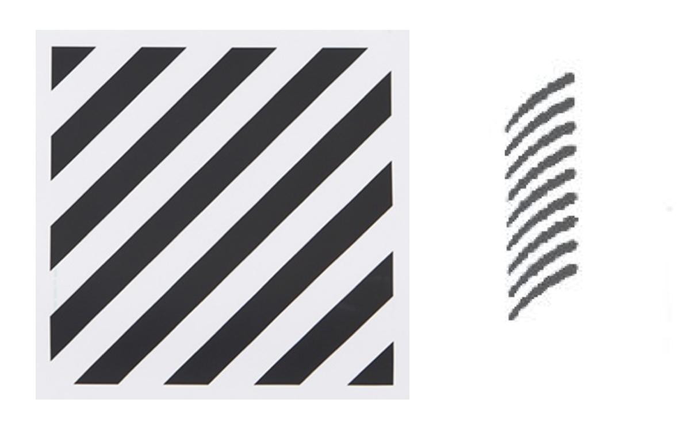 Off-White's trademark (left) & Paige's trademark (right)