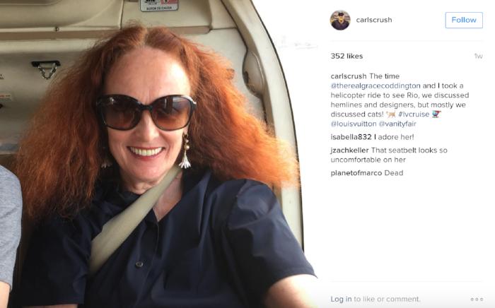 image: @carlscrush Instagram (Fashion Market Director, Vanity Fair)