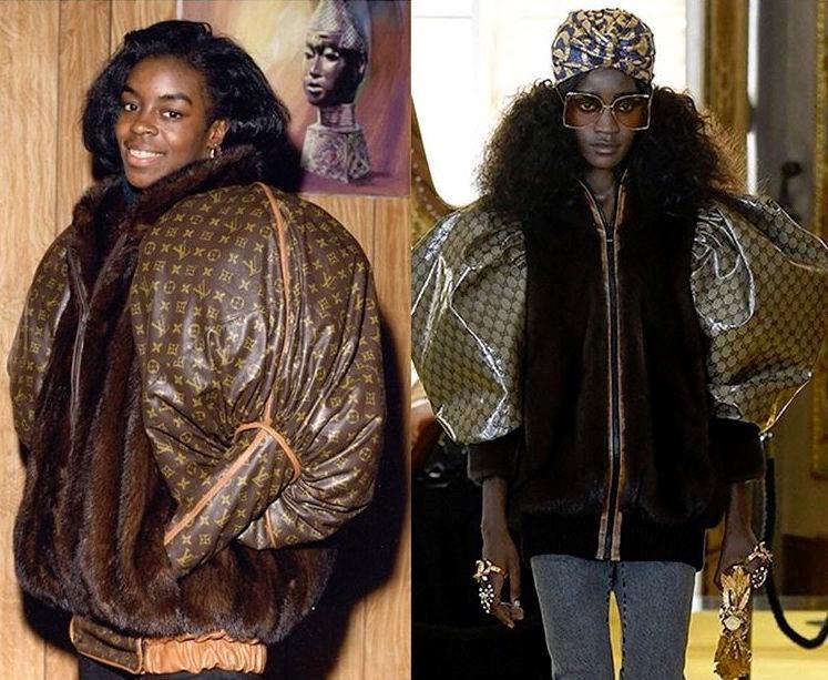 Dapper Dan's jacket (left) & Gucci's version (right)
