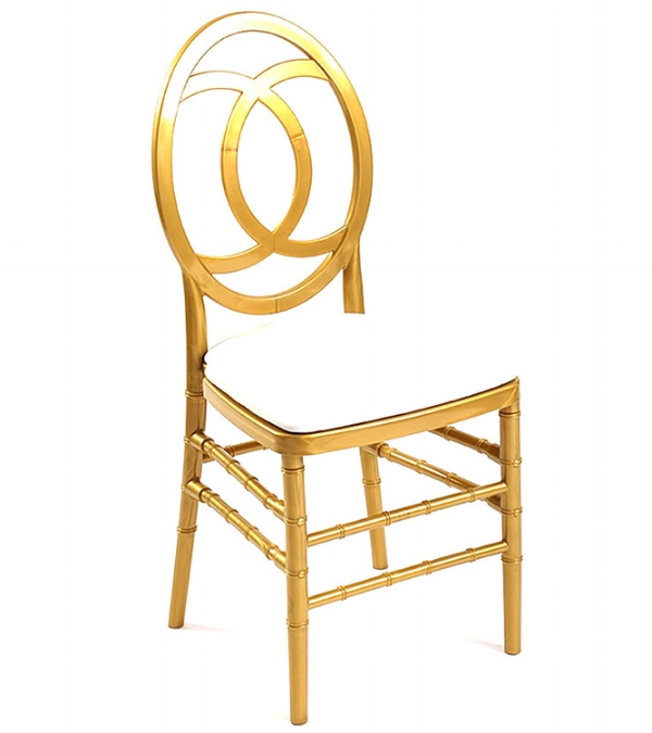 "One of Luxe's ""Chantel"" dining chairs"