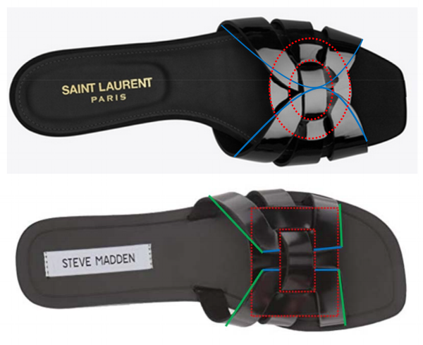 YSL's Tribute flat (top) & Madden's Sicily flat (bottom)