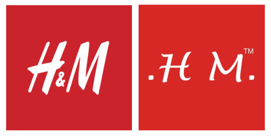 H&M's logo (left) & HM Megabrands' logo (right)