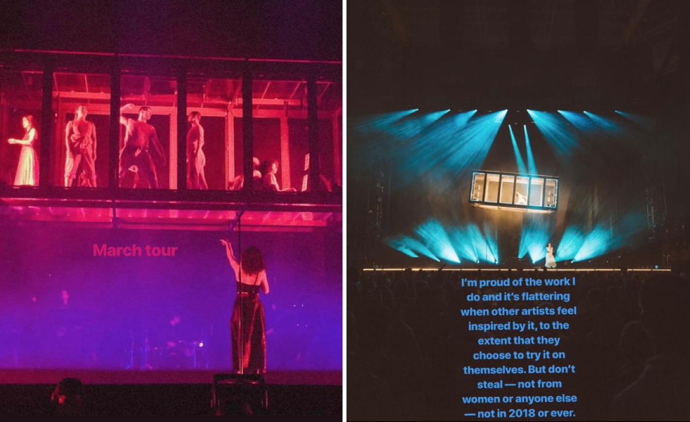 Lorde's Melodrama tour set