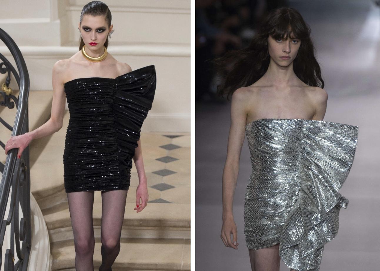 Slimane for Saint Laurent (left) & Slimane for Celine (right)