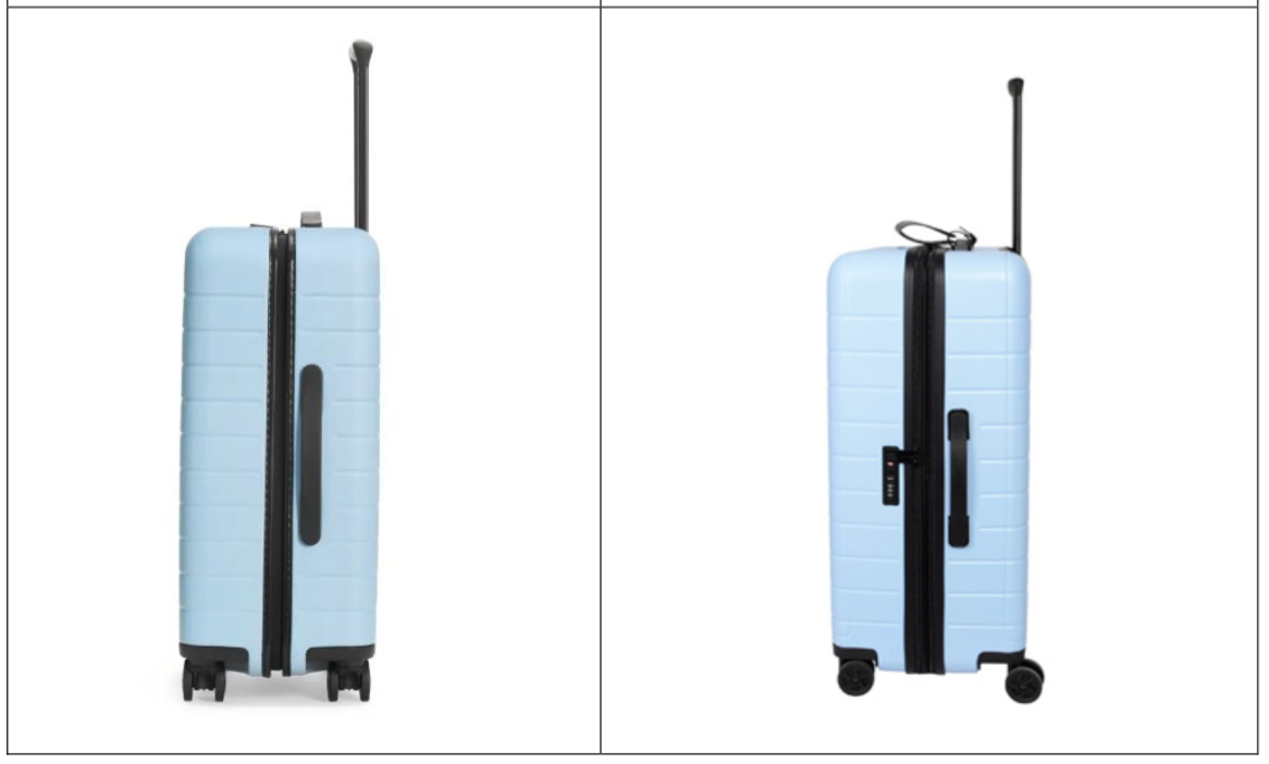 Away's luggage (left) & Olivet's luggage for Macy's (right)