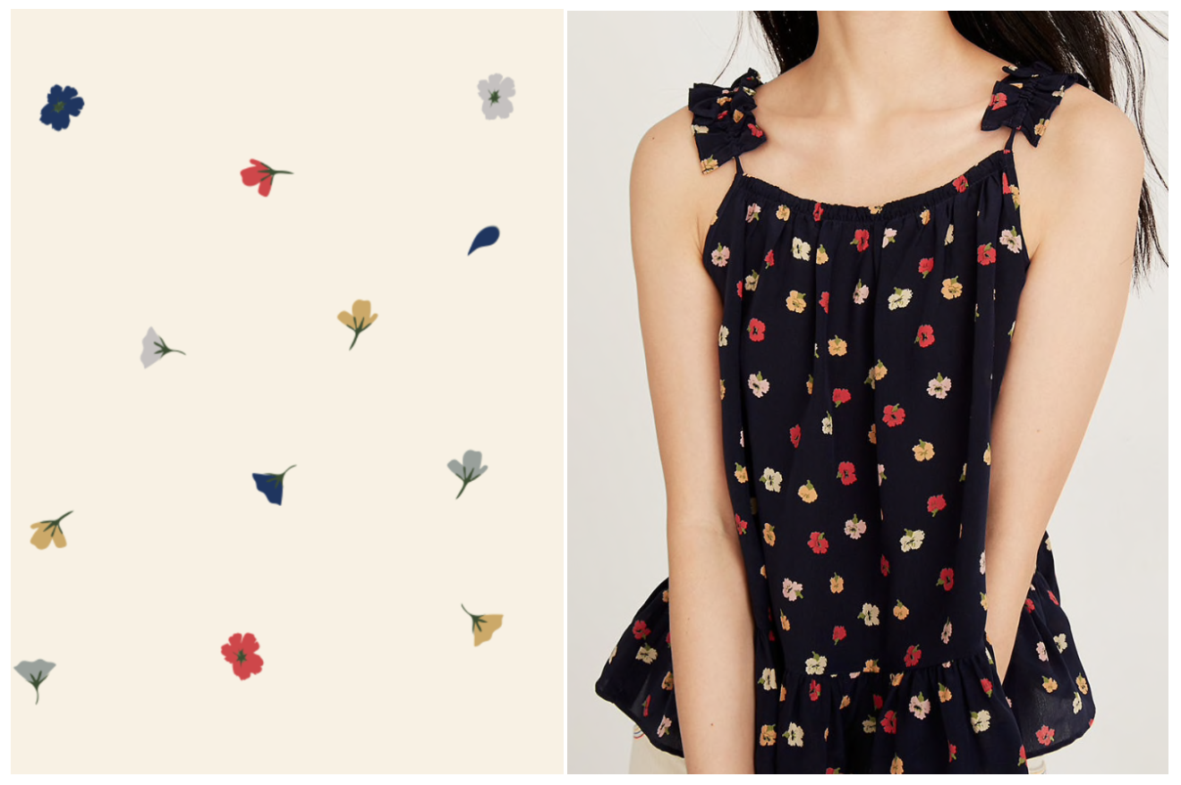 The Great's Pring (left) & One of Madewell's garments (right)
