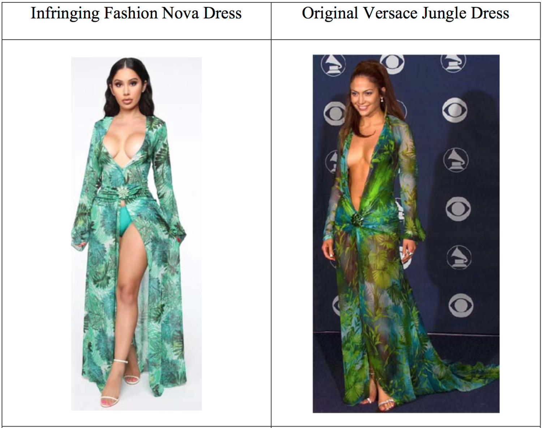 Versace судятся с масс-маркет-брендом Fashion Nova из-за дизайна платья Jungle (фото 1)