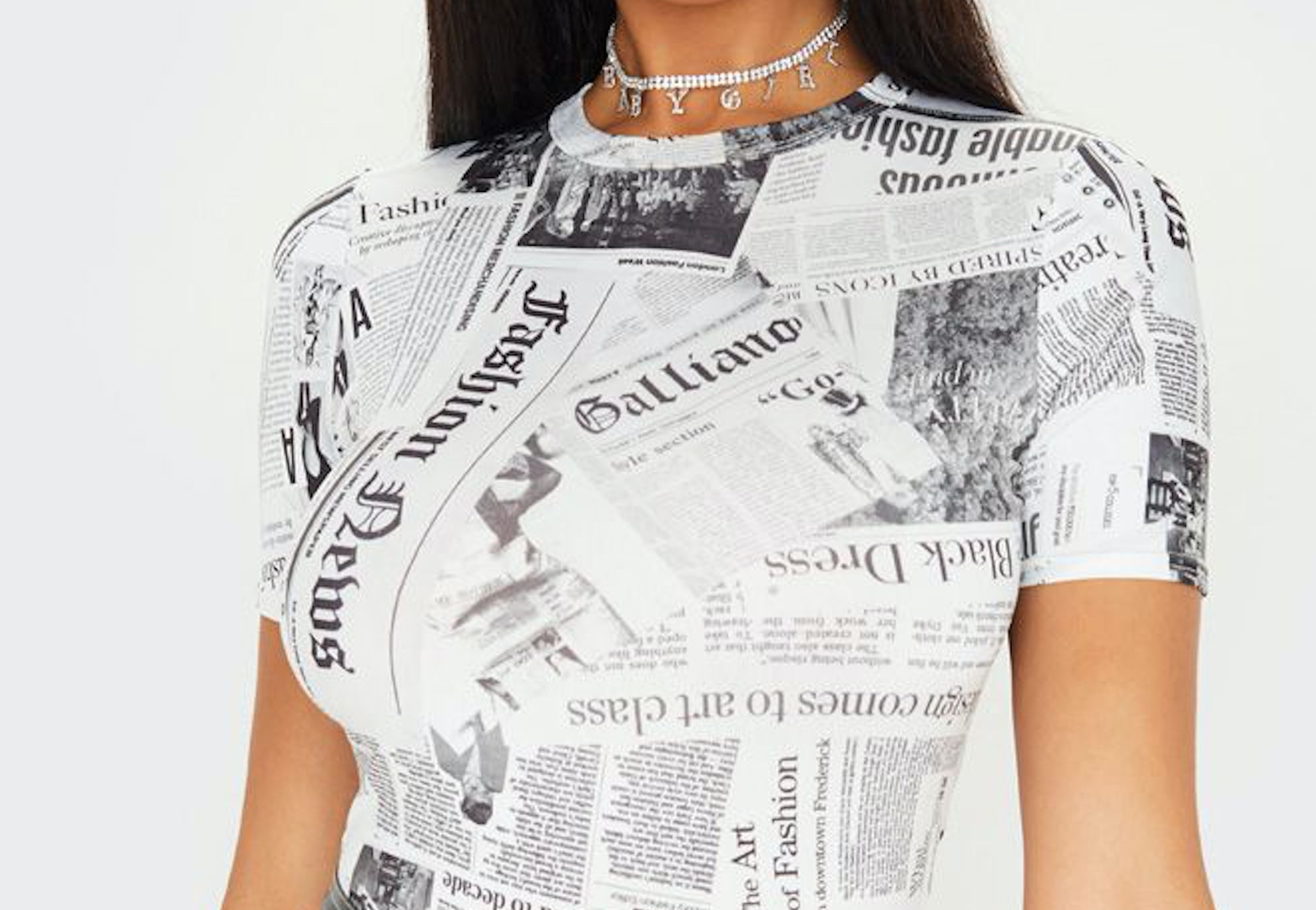 John Galliano's Newspaper Print is Getting the Fast Fashion Treatment 20 Years Later