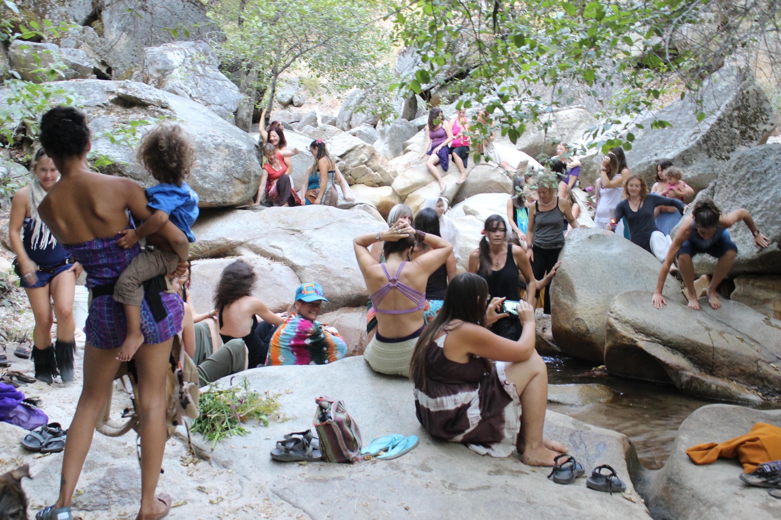 women at creek.JPG
