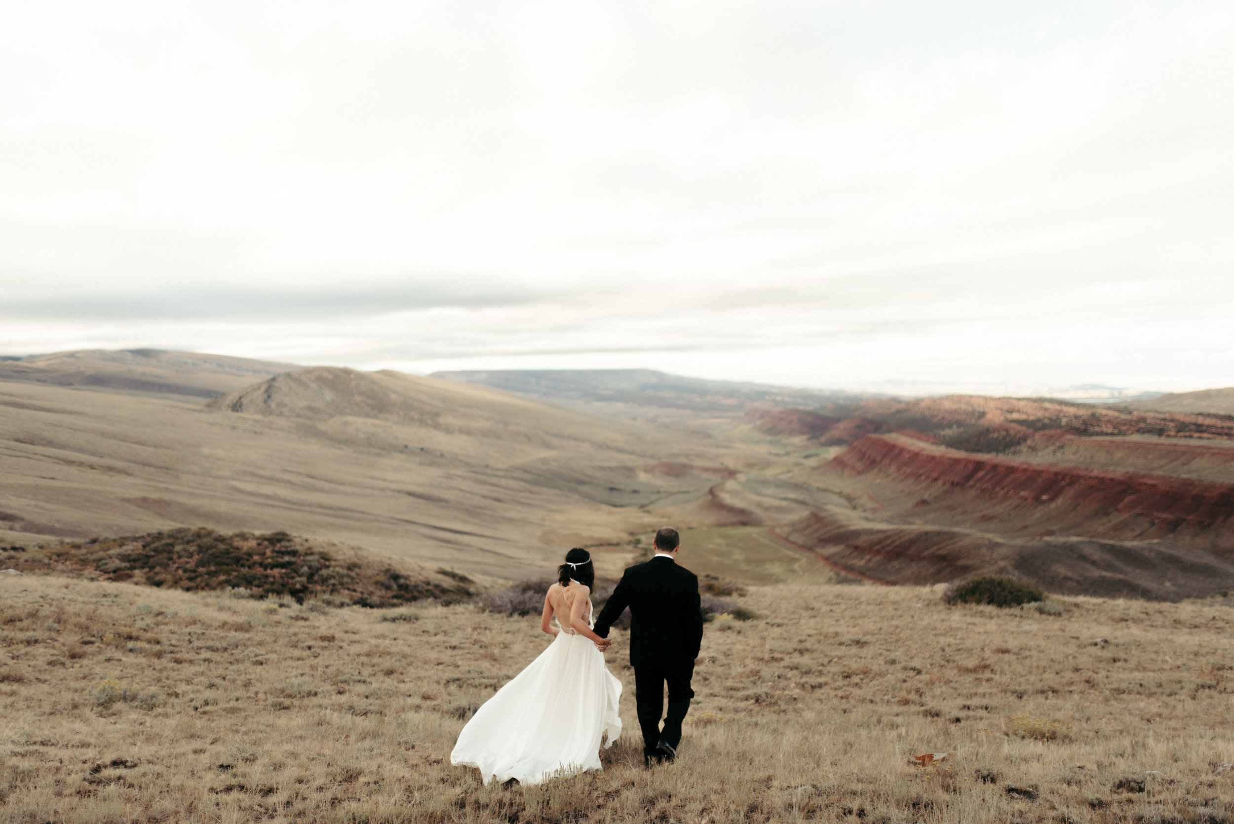 Intimate Lander, Wyoming Mountain Adventure Wedding