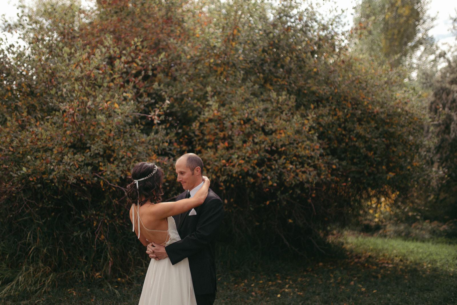 Kyle + Megan First Look, Wyoming Wedding