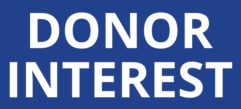 Create Donor Interest -