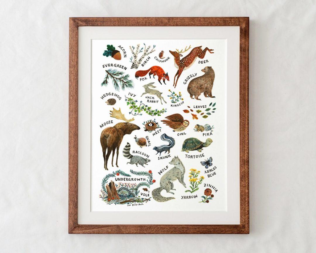 Wildship Studio Woodland Creature Poster