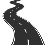 Vector Illustration of winding road