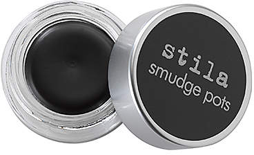 Stila Smudge Pot - Its matte jet black, glides on creamy and stays all day. Practice and a steady hand required but worth the effort for the end result of a wing you can be proud of.