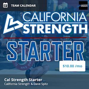 California strength starter program