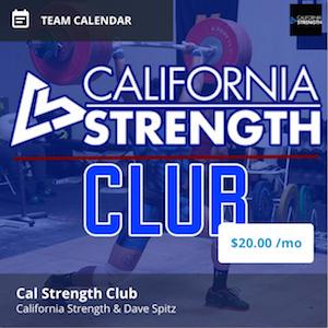 california strength club program