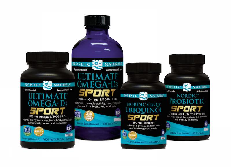nordic natural fish oil ultimate omega-d3 sport produce line.