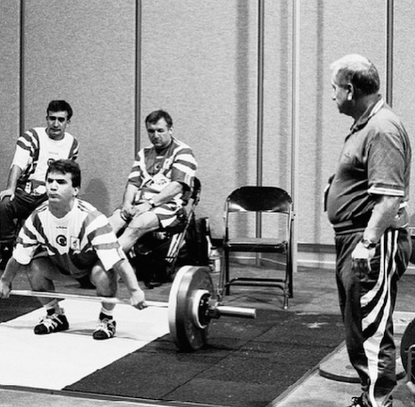 Abajiev coaching the Olympic lifts