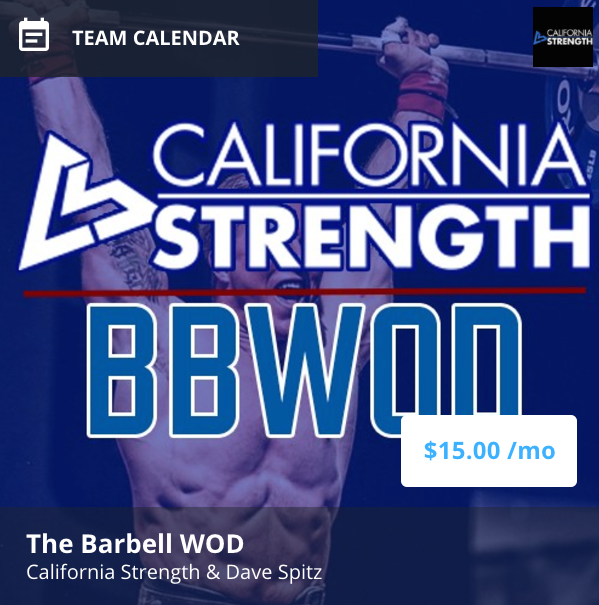 the barbell wod is an online strength program for crossfit and competitive fitness athletes