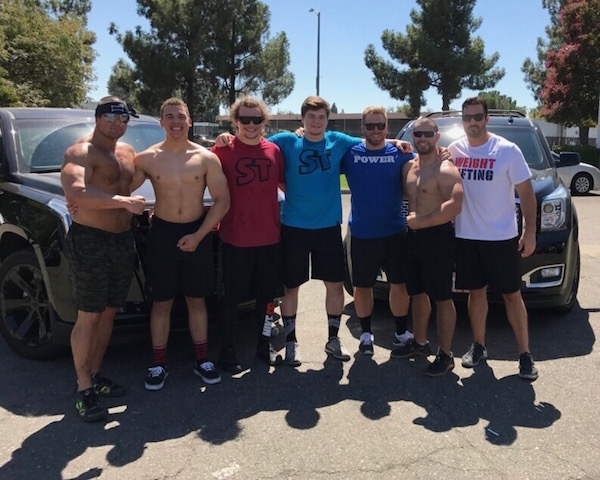 california strength weightlifting team visits mark bell's supertraining gym