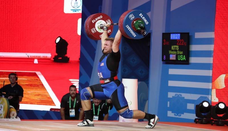 Wes Kitts 222kg Clean & Jerk | 2018 World Championships
