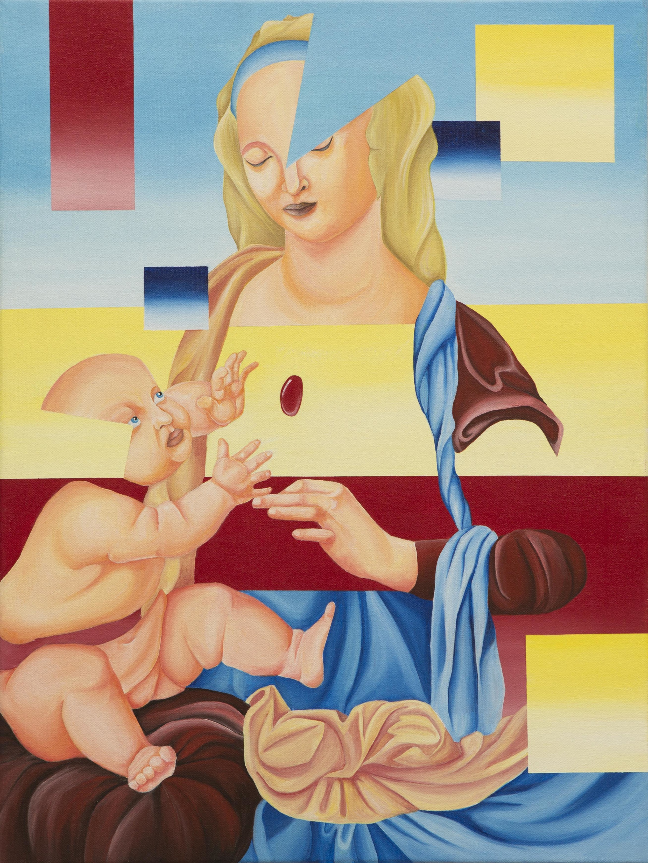 Surreal Madonna and Child
